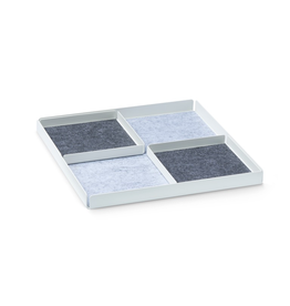 bureau POCKET REST X Organiser Tray Set 3pcs set. - White/Grey