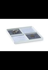 bureau POCKET REST X Organiser Tray Set 3pcs set. - White/Grey