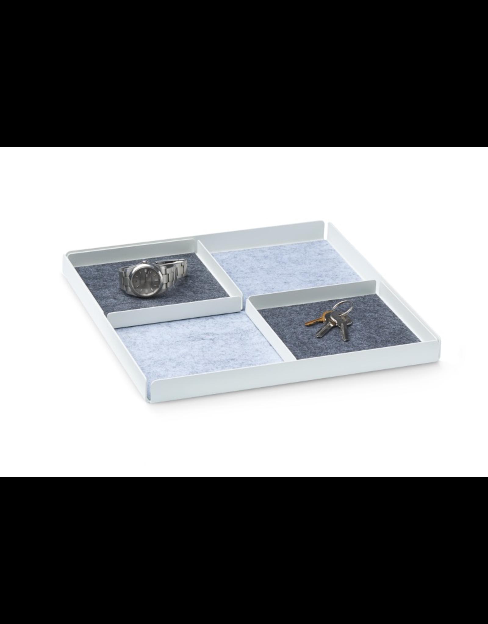 bureau POCKET REST X Organizer Tray Set Set de 3 pièces. - Blanc / Gris