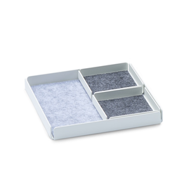 Juwelen Jewellery Rest x Organizer Tray Set 3pcs set - White/Grey
