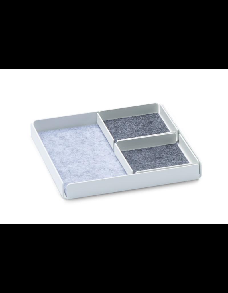 Juwelen Jewellery Rest x Plateau Organizer Set 3pcs Set - Blanc / Gris