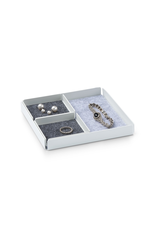 Juwelen Jewellery Rest x Organizer Tray Set 3pcs set - White/Grey