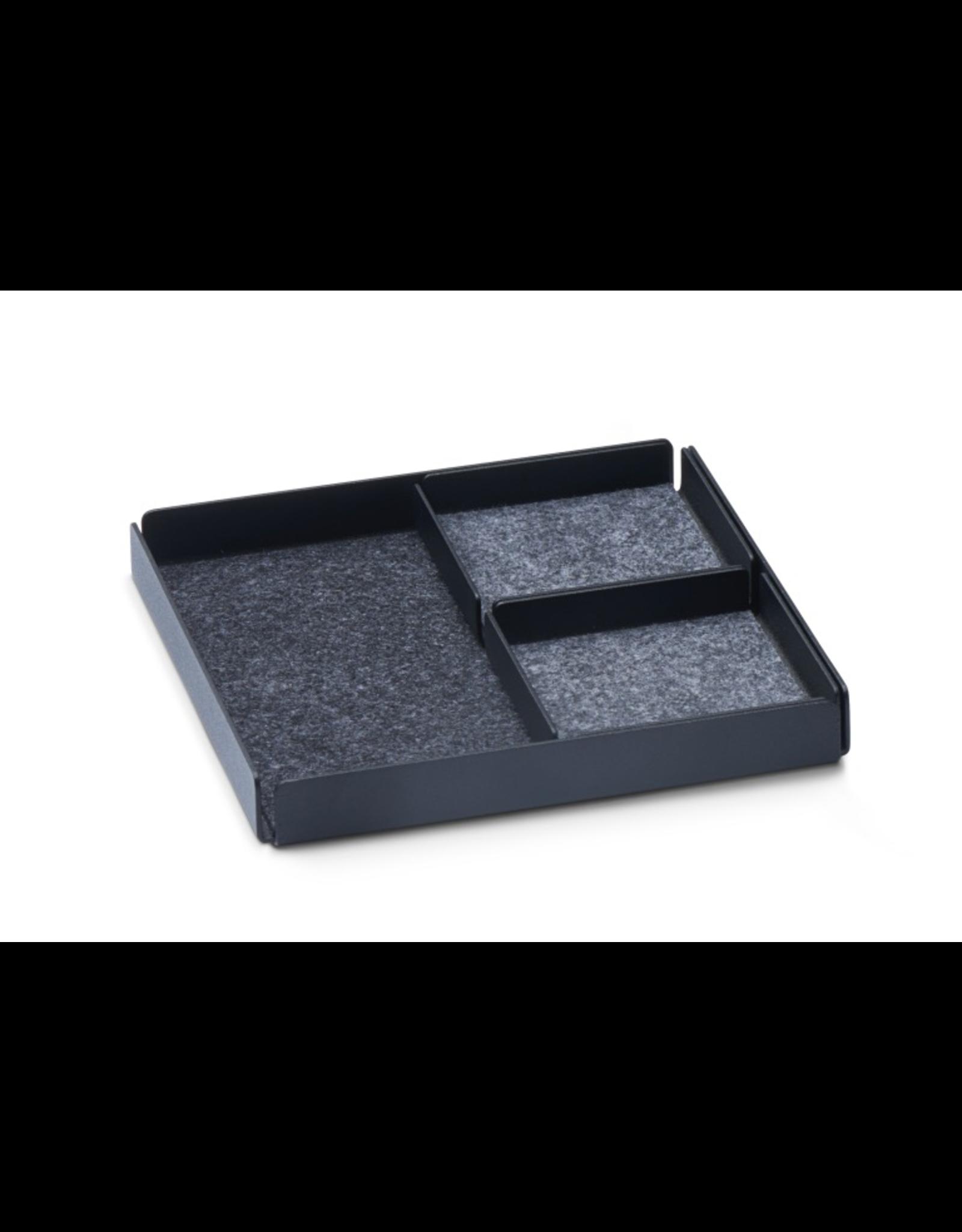 Juwelen Jewellery Rest x Organizer Tray Set 3pcs set - Black/Grey