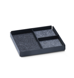 Juwelen Jewellery Rest x Organizer Tray Set 3pcs set - Black/Grey