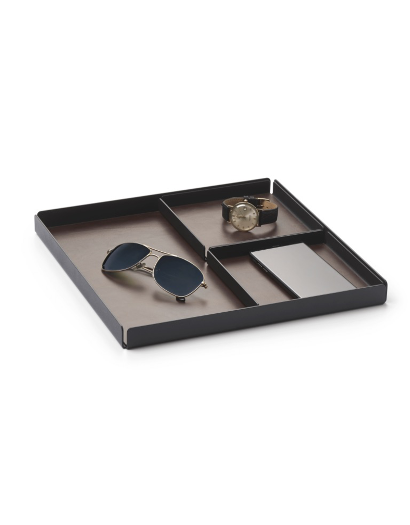 bureau POCKETS REST Organiser tray 3pcs set - Black/Brown