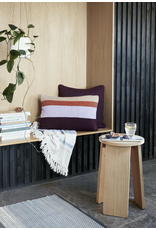 textiel PLAID, COTTON, BEIGE/BLUE/PINK, 140X200CM