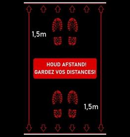 Tapijten Afstandstapijt - Houd afstand! - FEET 150 x 90 cm