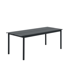 tuinmeubilair Linear Steel Table / Black / 200x75