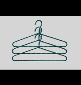 kleerhangers Cord Hanger / Stripe / Green / Set of 3