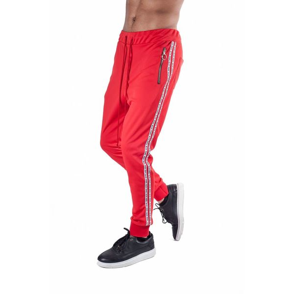 BLCK BNNS Double Tape Trackpants Red