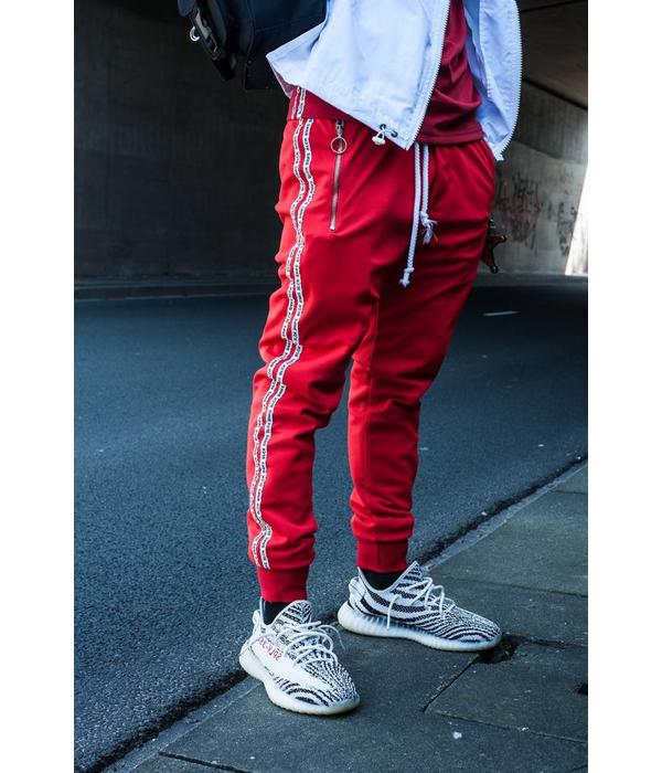 Black Bananas BLCK BNNS Double Tape Trackpants Red