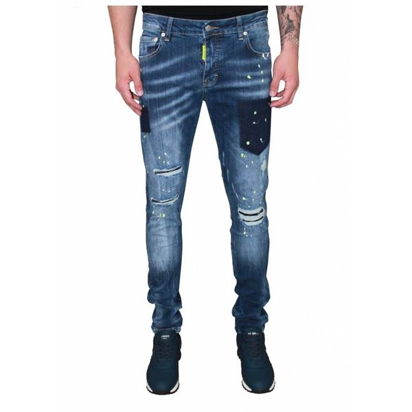 My Brand Jack 040 Yellow Destroyed Jeans