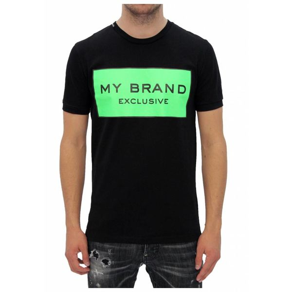 My Brand Logo Branding T-shirt Black/Green
