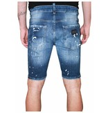 My Brand My Brand Vittore 011 Speckled Short Jeans Blue