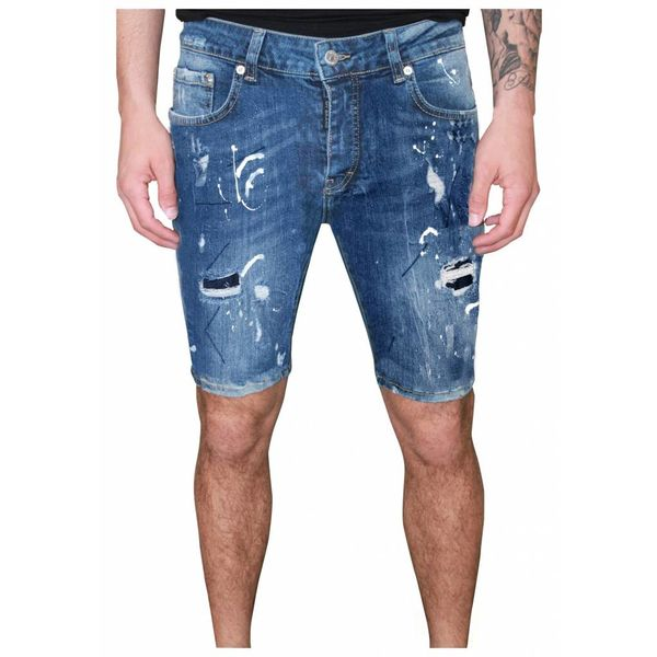 My Brand Vittore 011 Speckled Short Jeans Blue