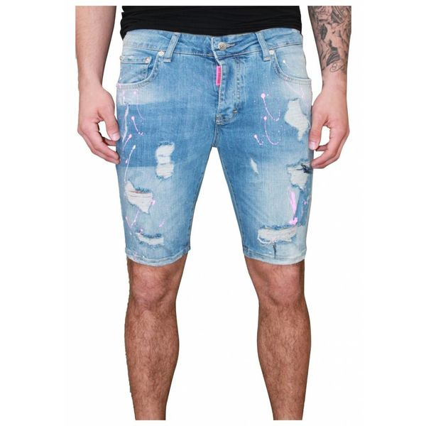 My Brand 009 Destroyed Short Jeans Blue