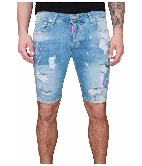 My Brand My Brand 009 Destroyed Short Jeans Blue