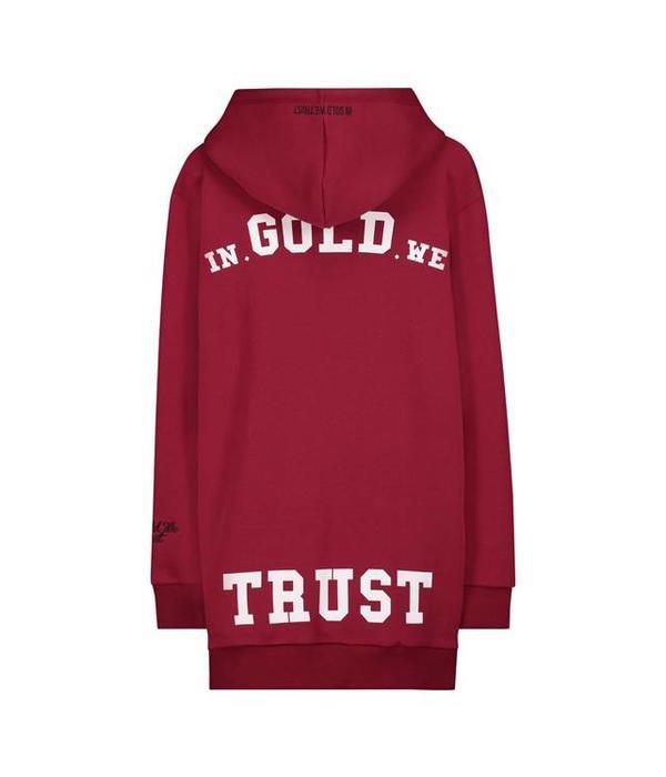 In Gold We Trust IGWT Logo Hoodie Burgundy