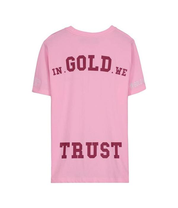 In Gold We Trust IGWT Logo T-Shirt Pink