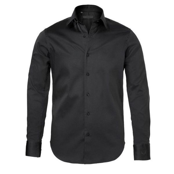 Zumo Doron Shirts LS Cotton Black