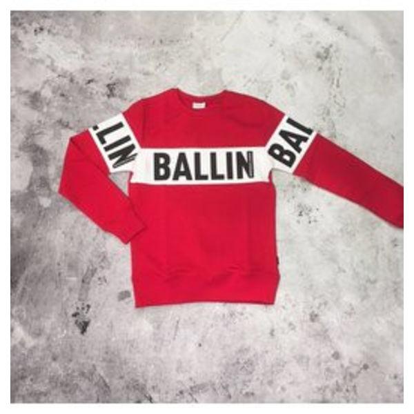 Purewhite Ballin Trui Red
