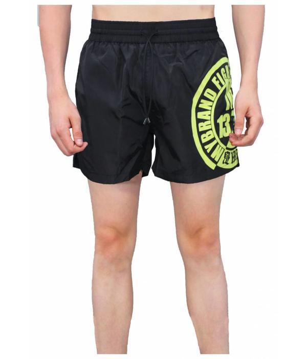 My Brand My Brand Fighters Logo Swimshort Black