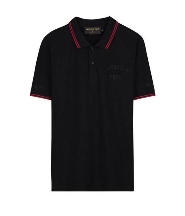 In Gold We Trust IGWT Logo Polo Black FAPO-004