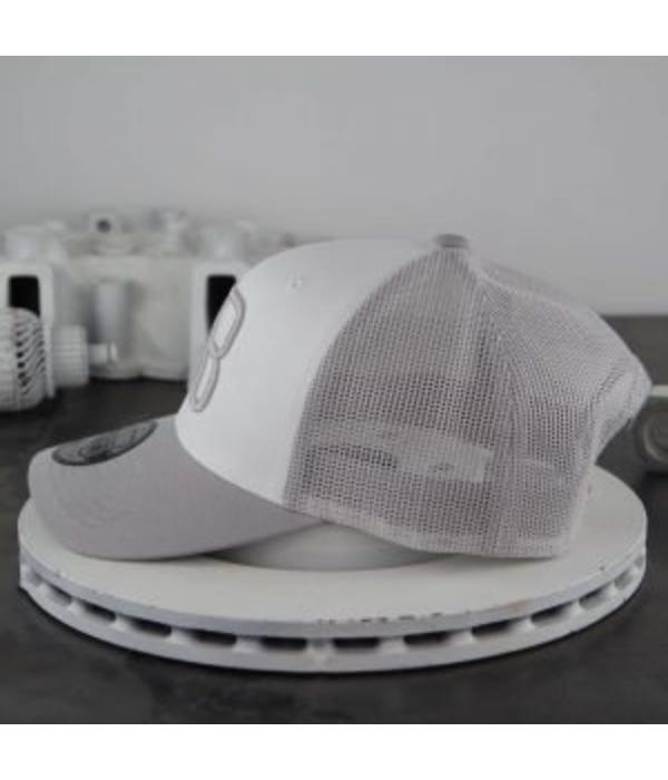 AB-Lifestyle AB Retro Trucker Cap White Grey