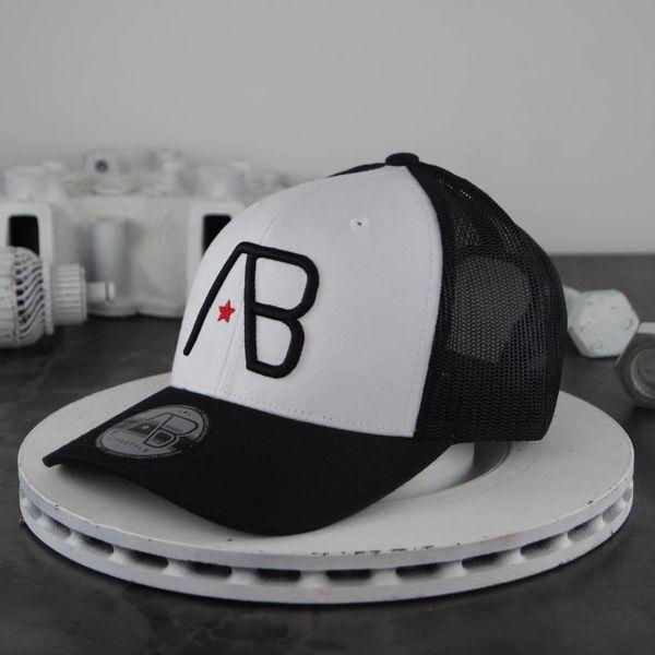AB Retro Trucker Cap Black White