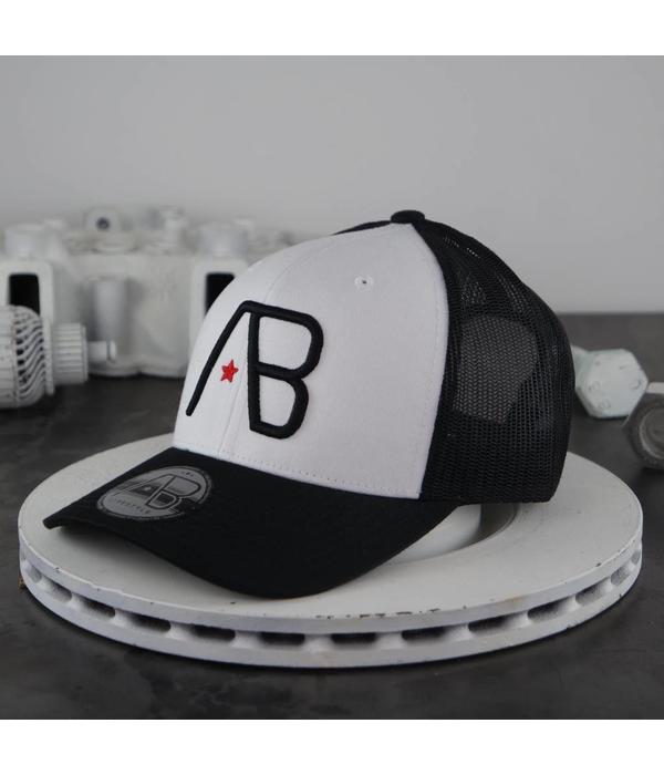 AB-Lifestyle AB Retro Trucker Cap Black White