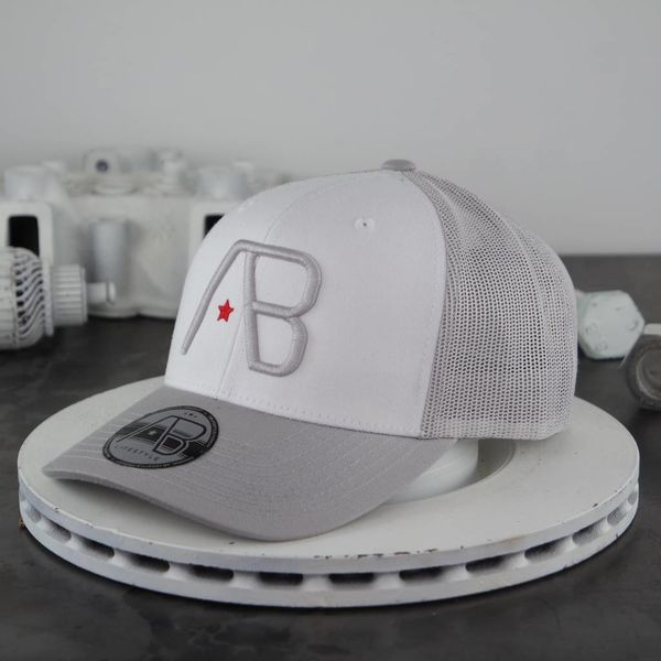 AB Retro Trucker Cap White Grey