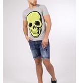 My Brand My Brand Neon Skull T-Shirt Greu