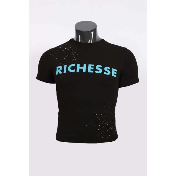 Richesse T-Shirt Black/Blue