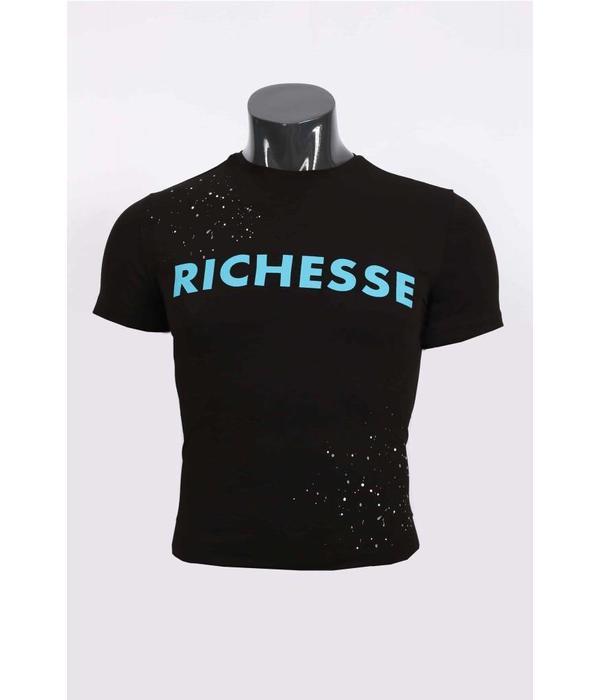 richesse Richesse T-Shirt Black/Blue