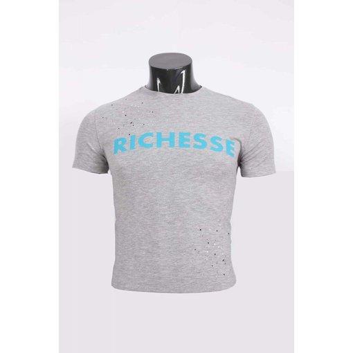 richesse Richesse T-Shirt Grey/Blue