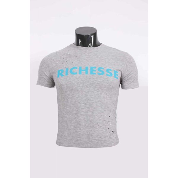 Richesse T-Shirt Grey/Blue
