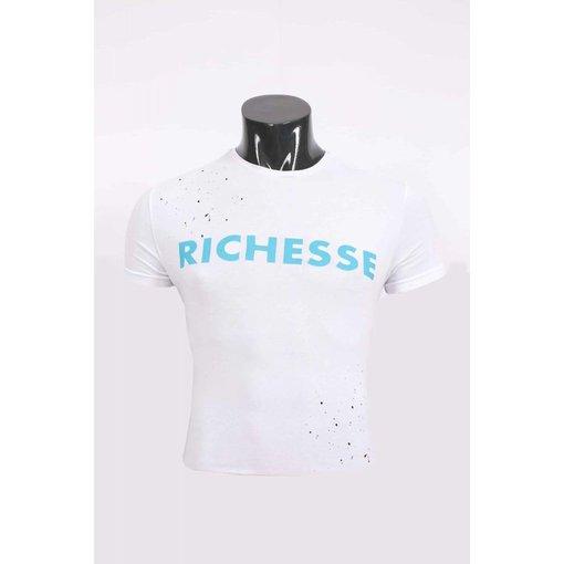 richesse Richesse T-Shirt white/blue