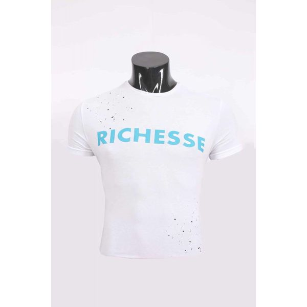 Richesse T-Shirt white/blue