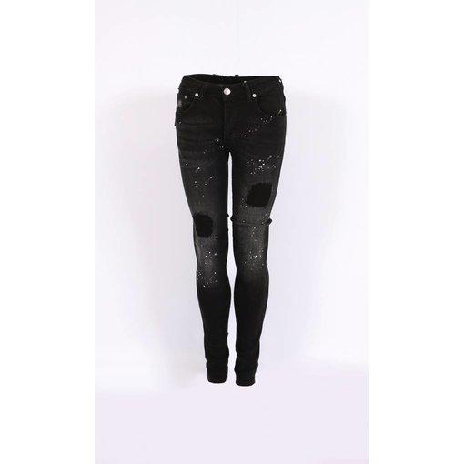 richesse Richesse Skinny Fit Jeans Black/grey H-2203