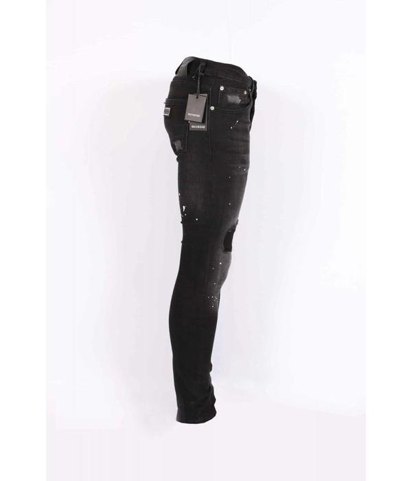 richesse Richesse Skinny Fit Jeans Black/grey H-2203