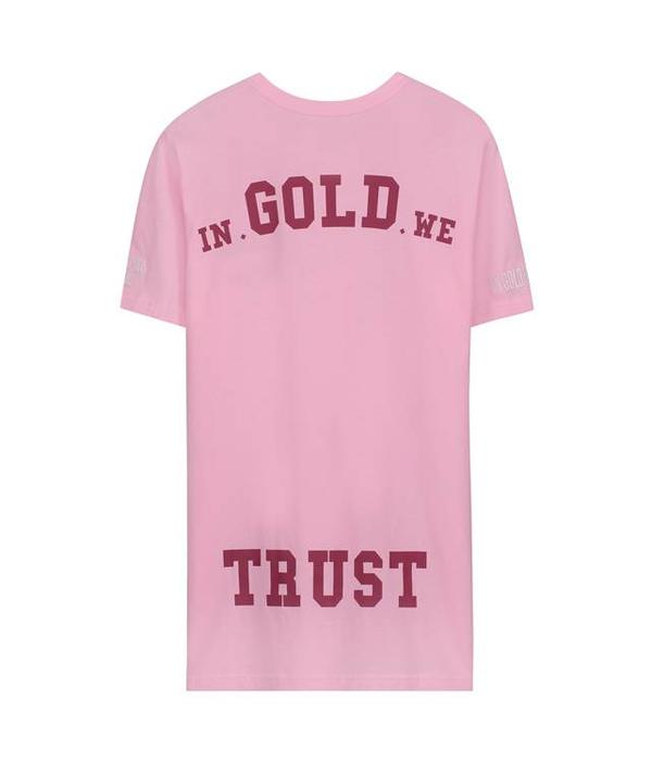 In Gold We Trust IGWT Logo T-Shirt Pink Men