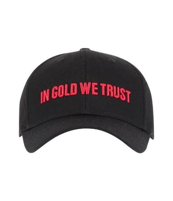 In Gold We Trust IGWT Cap Black/Red