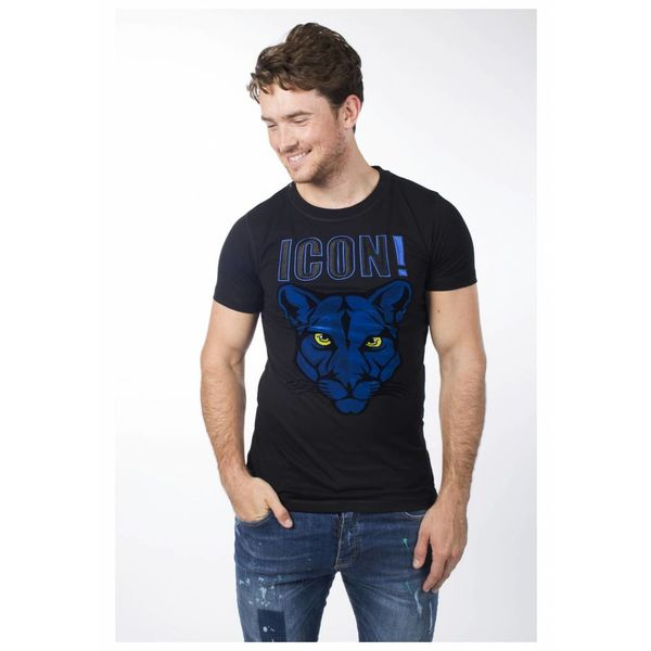 My Brand Icons Panther T-Shirt Black/Blue