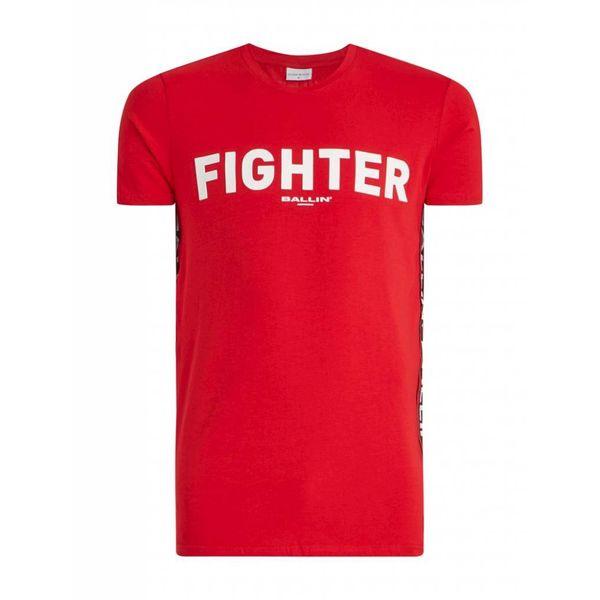 PureWhite Ballin T-shirt Fighter Red