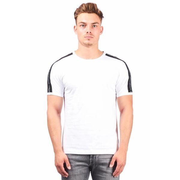 Antony Morato T-Shirt Wit streep Zwart MMKS01360
