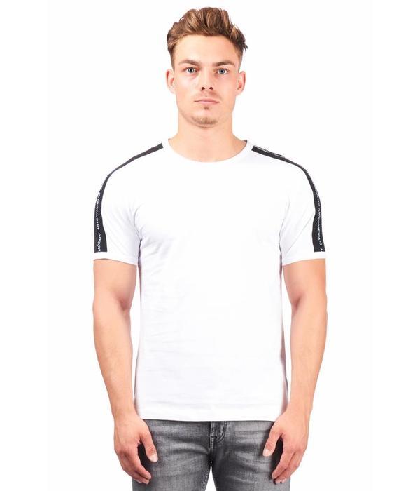 Antony Morato Antony Morato T-Shirt Wit streep Zwart MMKS01360