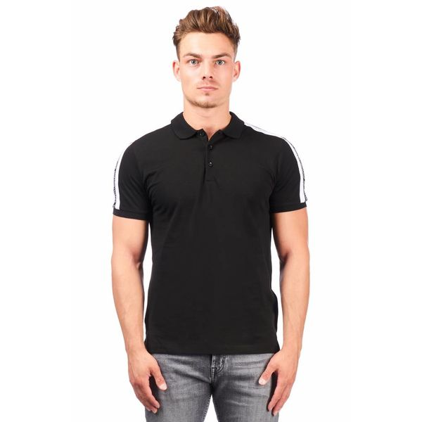AM Polo Stripe MMKS01348 Black