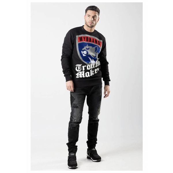 MB Panther Trouble Sweater Black