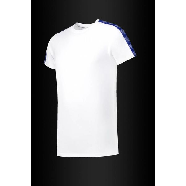 Black Bananas Cobalt Tape Tee White
