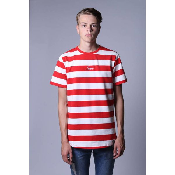 Laboss Stripe Tee Red